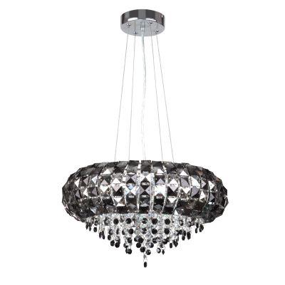 Люстра Colosseo 80935/6AПодвесные<br>Элегантная черная подвесная люстра Colosseo 80935/6A станет изысканным и оригинальным украшением комнаты! Необычное сочетание цвета и хрусталя формирует великолепный и уникальный образ, который особенно хорошо будет смотреться в интерьере, где преобладает небольшое количество цветовых оттенков, например, классическое сочетание белого и черного.     Лучи света, преломляясь во множестве граней, создадут эффектное «искрящееся» освещение, благодаря которому люстра всегда будет привлекать к себе восхищенные взгляды!<br><br>Установка на натяжной потолок: Да<br>S освещ. до, м2: 16<br>Крепление: Крюк<br>Тип товара: Люстра подвесная<br>Скидка, %: 51<br>Тип лампы: галогенная / LED-светодиодная<br>Тип цоколя: G9<br>Количество ламп: 6<br>MAX мощность ламп, Вт: 40<br>Диаметр, мм мм: 430<br>Длина, мм: 500 - 1000<br>Оттенок (цвет): черный<br>Цвет арматуры: серебристый