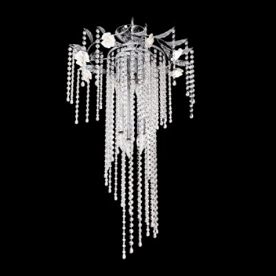 Люстра Colosseo 80938/6Потолочные<br>Эффектная и изящная люстра Colosseo 80938/6 GIULIA кардинально отличается от привычных потолочных светильников, поэтому с ней Ваш интерьер станет запоминающимся, индивидуальным и невероятно привлекательным! Шесть плафонов окружены декоративными «розами» и  целым «водопадом» из хрустальных подвесок. Лучи, попадая на множество граней, отражаются в них и создают уникальное, «искрящееся» освещение. Такая люстра требует тщательной подборки интерьера, наиболее выигрышно она будет смотреться в комнате в стиле «флористика», где присутствует изящная мебель, декоративные статуэтки, «растительные» элементы. Рекомендуем в качестве подсветки использовать настенные бра из этой же серии, чтобы пространство выглядело «цельным», элегантным и уютным.<br><br>Установка на натяжной потолок: Да<br>S освещ. до, м2: 12<br>Крепление: Планка<br>Тип лампы: накаливания / энергосбережения / LED-светодиодная<br>Тип цоколя: E14<br>Количество ламп: 6<br>MAX мощность ламп, Вт: 40<br>Диаметр, мм мм: 450<br>Высота, мм: 940<br>Цвет арматуры: серебристый хром