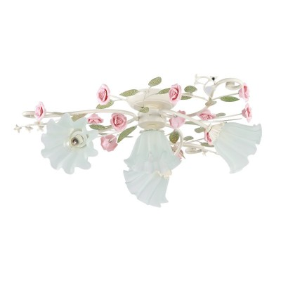 Люстра Colosseo 80942/4C RosariaПотолочные<br>Изумительная флористическая композиция представлена итальянскими дизайнерами и мастерами своего дела. Оцените и Вы восхитительные преимущества потолочной люстры Colosseo 80942/4C, в которой идеально сочетаются грациозные переплетения «ветвей» прекрасных «роз» и превосходно скроенные плафоны мягкой геометрии. Целых четыре источника насыщенного сияния будут наполнять Ваше пространство превосходным светом. Дизайнеры оригинально подошли и к цветовому наполнению изделия: нотки розового перекликаются с нежно-зелёной тональностью и оттенком «слоновая кость». Аккуратные размеры потолочной люстры Colosseo 80942/4C позволят украсить ею интерьеры любых площадей: от мала до велика. Вы и Ваши гости будут с восхищением наблюдать за истинным произведением дизайнерского искусства на домашних просторах.<br><br>Установка на натяжной потолок: Ограничено<br>S освещ. до, м2: 10<br>Крепление: Планка<br>Тип лампы: накаливания / энергосбережения / LED-светодиодная<br>Тип цоколя: E14<br>Цвет арматуры: бежевый<br>Количество ламп: 4<br>Диаметр, мм мм: 730<br>Высота, мм: 230<br>MAX мощность ламп, Вт: 40