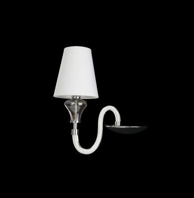 Lightstar Sally 809616 Светильник настенный браХай-тек<br><br><br>S освещ. до, м2: 2<br>Крепление: настенное<br>Тип товара: Светильник настенный бра<br>Тип лампы: накаливания / энергосбережения / LED-светодиодная<br>Тип цоколя: E14<br>Количество ламп: 1<br>Ширина, мм: 200<br>MAX мощность ламп, Вт: 40<br>Размеры: H 350 W 300x200<br>Высота, мм: 350<br>Оттенок (цвет): белый<br>Цвет арматуры: серебристый