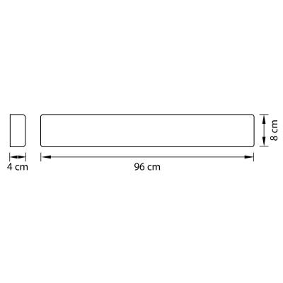 Бра Lightstar 810537 FIUMEХай-тек<br><br><br>Цветовая t, К: 3000<br>Тип лампы: LED<br>Ширина, мм: 960<br>Расстояние от стены, мм: 40<br>Высота, мм: 80