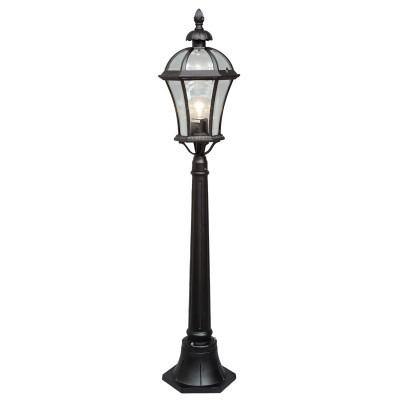 Светильник уличный Mw light 811040501 СандраОдиночные фонари<br>Описание модели 811040501: Уличный светильник из коллекции «Сандра» - воплощение утонченного и строгого вкуса. Чёрное основание из алюминия выглядит очень изящно. Под стать ему – стеклянный плафон необычной, плавно изогнутой формы. Светильник своим дизайном напомнит о средневековых интерьерах. Он гармонично дополнит обстановку беседки, веранды, холла или террасы. Рекомендуемая площадь освещения порядка 5 кв.м.<br><br>S освещ. до, м2: 5<br>Тип товара: Светильник уличный<br>Тип лампы: накаливания / энергосбережения / LED-светодиодная<br>Тип цоколя: E27<br>Количество ламп: 1<br>MAX мощность ламп, Вт: 100<br>Диаметр, мм мм: 200<br>Высота, мм: 1200<br>Цвет арматуры: черный<br>Общая мощность, Вт: 100