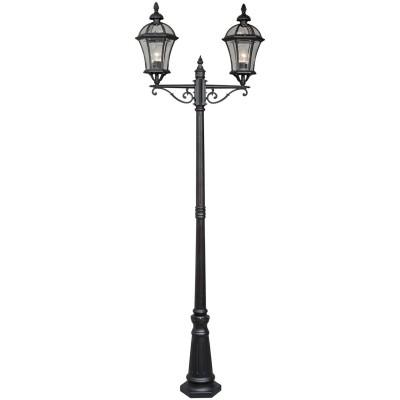Светильник уличный Mw light 811040602 СандраБольшие фонари<br>Описание модели 811040602: Уличный светильник из коллекции «Сандра» - воплощение утонченного и строгого вкуса. Чёрное основание из алмини выглдит очень изщно. Под стать ему – стеклнный плафон необычной, плавно изогнутой формы. Светильник своим дизайном напомнит о средневековых интерьерах. Он гармонично дополнит обстановку беседки, веранды, холла или террасы. Рекомендуема площадь освещени пордка 10 кв.м.<br><br>S освещ. до, м2: 10<br>Тип лампы: накаливани / нергосбережени / LED-светодиодна<br>Тип цокол: E27<br>Количество ламп: 2<br>Ширина, мм: 700<br>MAX мощность ламп, Вт: 100<br>Диаметр, мм мм: 700<br>Высота, мм: 2300<br>Поверхность арматуры: матовый<br>Цвет арматуры: черный<br>Обща мощность, Вт: 200