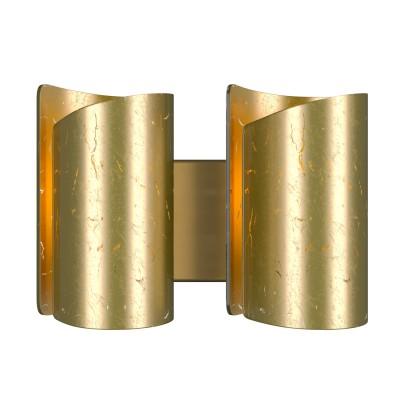 Lightstar PITTORE 811622 Светильник настенный браСовременные<br><br><br>Тип лампы: накаливания / энергосберегающая / светодиодная<br>Тип цоколя: E27<br>Количество ламп: 2<br>Ширина, мм: 350<br>MAX мощность ламп, Вт: 40<br>Выступ, мм: 145<br>Высота, мм: 250<br>Поверхность арматуры: матовый<br>Цвет арматуры: Золотой<br>Общая мощность, Вт: 80