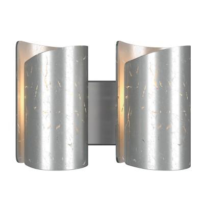 Lightstar PITTORE 811624 Светильник настенный браСовременные<br><br><br>Тип лампы: Накаливания / энергосбережения / светодиодная<br>Тип цоколя: E27<br>Количество ламп: 2<br>Оттенок (цвет): серебро<br>MAX мощность ламп, Вт: 40