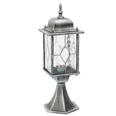Светильник влагозащищенный Mw light 813040301 БургосФонари на столб<br>Описание модели 813040301: Оригинальное витражное стекло в коллекции Бургос красиво преломляет лучи света, тем самым достойно украшая конструкцию светильников. Контуры алюминиевого литого основания чёрного цвета декорированы модной серебряной патиной. Благодаря лёгкости металлической конструкции и интересному дизайну, светильник отлично впишется в экстерьер любого природного ландшафта.<br><br>S освещ. до, м2: 4<br>Тип лампы: накаливания / энергосбережения / LED-светодиодная<br>Тип цоколя: Е27<br>Количество ламп: 1<br>Ширина, мм: 160<br>MAX мощность ламп, Вт: 100<br>Длина, мм: 160<br>Высота, мм: 480<br>Поверхность арматуры: матовый<br>Цвет арматуры: черный<br>Общая мощность, Вт: 100