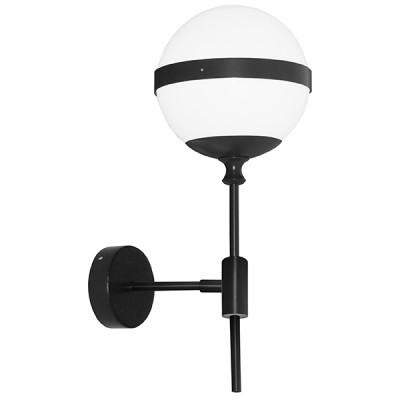 Светильник бра Lightstar 813617 Globoбра в стиле лофт<br>Высота min-max (см): ; Ширина (см): ; Глубина(см): ; Вес (кг): ; Кол-во ламп: 1хE14; Мощность max (W): 40; Цвет основания/цвет стекла или абажура: black/white;