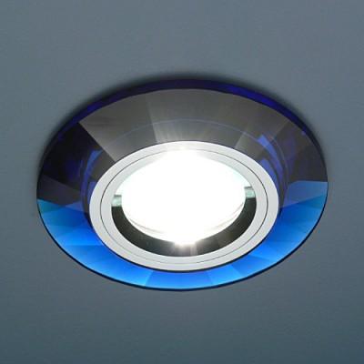 Светильник Electrostandart 8160 BL-SL зеркальный/синийКруглые<br>Встраиваемые светильники – популярное осветительное оборудование, которое можно использовать в качестве основного источника или в дополнение к люстре. Они позволяют создать нужную атмосферу атмосферу и привнести в интерьер уют и комфорт.   Интернет-магазин «Светодом» предлагает стильный встраиваемый светильник Электростандарт Electrostandart 8160 BL-SL зеркальный/синий. Данная модель достаточно универсальна, поэтому подойдет практически под любой интерьер. Перед покупкой не забудьте ознакомиться с техническими параметрами, чтобы узнать тип цоколя, площадь освещения и другие важные характеристики.   Приобрести встраиваемый светильник Электростандарт Electrostandart 8160 BL-SL зеркальный/синий в нашем онлайн-магазине Вы можете либо с помощью «Корзины», либо по контактным номерам. Мы развозим заказы по Москве, Екатеринбургу и остальным российским городам.<br><br>S освещ. до, м2: 3<br>Тип лампы: галогенная<br>Тип цоколя: gu5.3<br>Количество ламп: 1<br>MAX мощность ламп, Вт: 50<br>Диаметр, мм мм: 90<br>Диаметр врезного отверстия, мм: 65<br>Оттенок (цвет): синий<br>Цвет арматуры: серебристый