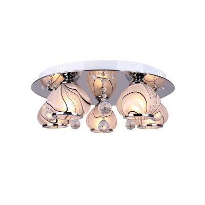 Люстра Colosseo 81608/5C MELISSAПотолочные<br>Компания «Светодом» предлагает широкий ассортимент люстр от известных производителей. Представленные в нашем каталоге товары выполнены из современных материалов и обладают отличным качеством. Благодаря широкому ассортименту Вы сможете найти у нас люстру под любой интерьер. Мы предлагаем как классические варианты, так и современные модели, отличающиеся лаконичностью и простотой форм. <br>Стильная люстра Colosseo 81608/5C станет украшением любого дома. Эта модель от известного производителя не оставит равнодушным ценителей красивых и оригинальных предметов интерьера. Люстра Colosseo 81608/5C обеспечит равномерное распределение света по всей комнате. При выборе обратите внимание на характеристики, позволяющие приобрести наиболее подходящую модель. <br>Купить понравившуюся люстру по доступной цене Вы можете в интернет-магазине «Светодом».<br><br>Установка на натяжной потолок: Ограничено<br>S освещ. до, м2: 15<br>Крепление: Планка<br>Тип лампы: накаливания / энергосбережения / LED-светодиодная<br>Тип цоколя: E14<br>Количество ламп: 5<br>MAX мощность ламп, Вт: 60<br>Диаметр, мм мм: 500<br>Высота, мм: 160<br>Цвет арматуры: серебристый хром