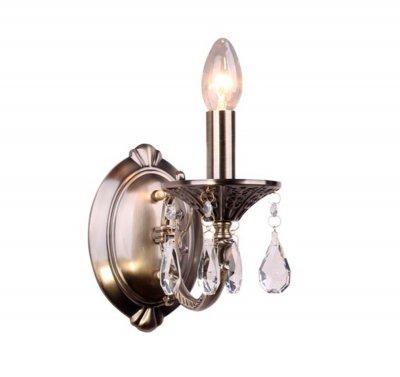 Светильник Colosseo 81621/1WКлассика<br><br><br>Тип товара: Светильник настенный бра<br>Скидка, %: 17<br>Тип лампы: накаливания / энергосбережения / LED-светодиодная<br>Тип цоколя: E14<br>Ширина, мм: 110<br>MAX мощность ламп, Вт: 60<br>Расстояние от стены, мм: 240<br>Высота, мм: 230<br>Цвет арматуры: бронзовый