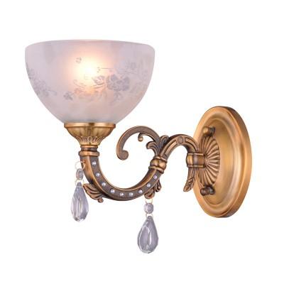 Светильник Colosseo 81623/1W EDVIGEКлассические<br><br><br>Тип лампы: накаливания / энергосбережения / LED-светодиодная<br>Тип цоколя: E27<br>Количество ламп: 1<br>Ширина, мм: 150<br>MAX мощность ламп, Вт: 60<br>Диаметр, мм мм: 150<br>Расстояние от стены, мм: 270<br>Высота, мм: 220<br>Цвет арматуры: латунь