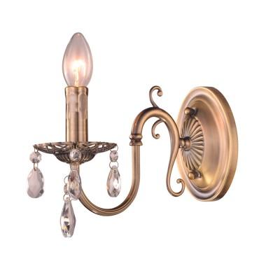 Светильник Colosseo 81629/1W REDENTOКлассические<br><br><br>Тип лампы: накаливания / энергосбережения / LED-светодиодная<br>Тип цоколя: E14<br>Количество ламп: 1<br>Ширина, мм: 100<br>Диаметр, мм мм: 100<br>Расстояние от стены, мм: 230<br>Высота, мм: 250<br>MAX мощность ламп, Вт: 60