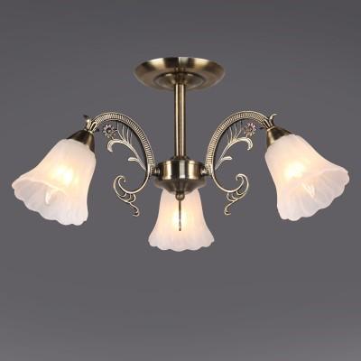 Светильник Colosseo 81633/3C optimaПотолочные<br><br><br>Тип товара: люстры потолочные<br>Тип цоколя: E14<br>Количество ламп: 3<br>MAX мощность ламп, Вт: 60<br>Диаметр, мм мм: 540<br>Высота, мм: 270<br>Цвет арматуры: бронзовый
