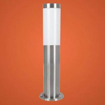 Eglo HELSINKI 81751 светильник уличныйОдиночные столбы<br>Энергосберегающие парковые светильники EGLO MALMO (IP44) и EGLO HELSINKI (IP44) — светильники для наружного освещения. Степень защиты IP44 — защита от твердых тел gt  1 мм, защита от капель и брызг. Модели 2, 7, 8, 9 снабжены датчиком движения. Плафоны из матового пластика, арматура из нержавеющей стали. Светильники рассчитаны на энергосберегающую компактную люминесцентную лампу PL 15W E27. Цвет Malmo: 1, 2, 3, 4 — нержавеющая сталь (niro)  цвет Helsinki: 5, 6, 7, 8, 9, 10 — нержавеющая сталь (niro).<br><br>Тип цоколя: E27-ESL-2U<br>MAX мощность ламп, Вт: 15<br>Диаметр, мм мм: 75<br>Размеры основания, мм: 115<br>Высота, мм: 450<br>Оттенок (цвет): белый<br>Цвет арматуры: серебристый<br>Общая мощность, Вт: 2