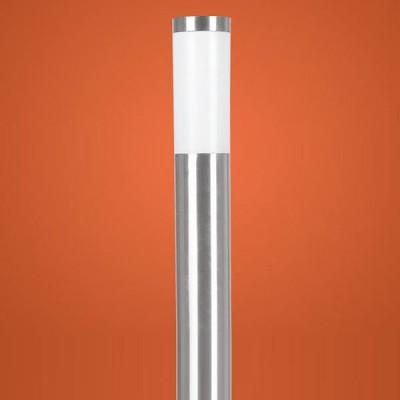 Eglo HELSINKI 81752 светильник уличныйОдиночные столбы<br>Энергосберегающие парковые светильники EGLO MALMO (IP44) и EGLO HELSINKI (IP44) — светильники для наружного освещения. Степень защиты IP44 — защита от твердых тел gt  1 мм, защита от капель и брызг. Модели 2, 7, 8, 9 снабжены датчиком движения. Плафоны из матового пластика, арматура из нержавеющей стали. Светильники рассчитаны на энергосберегающую компактную люминесцентную лампу PL 15W E27. Цвет Malmo: 1, 2, 3, 4 — нержавеющая сталь (niro)  цвет Helsinki: 5, 6, 7, 8, 9, 10 — нержавеющая сталь (niro).<br><br>Тип цоколя: E27-ESL-2U<br>Цвет арматуры: серебристый<br>Диаметр, мм мм: 75<br>Размеры основания, мм: 115<br>Высота, мм: 1100<br>Оттенок (цвет): белый<br>MAX мощность ламп, Вт: 15<br>Общая мощность, Вт: 2