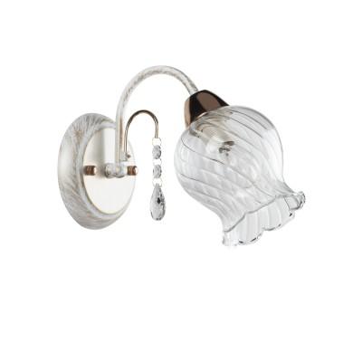 Светильник бра Colosseo 81801/1W ONORIAКлассика<br><br><br>Тип товара: бра<br>Тип цоколя: E14<br>Количество ламп: 1<br>MAX мощность ламп, Вт: 60<br>Диаметр, мм мм: 120<br>Высота, мм: 190<br>Цвет арматуры: золотой