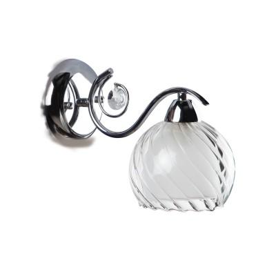 Светильник бра Colosseo 81803/1W BARBARELLAСовременные<br><br><br>Тип цоколя: E14<br>Цвет арматуры: серебристый<br>Количество ламп: 1<br>Диаметр, мм мм: 190<br>Высота, мм: 140<br>MAX мощность ламп, Вт: 60