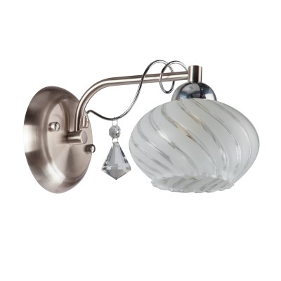 Светильник бра Colosseo 81804/1W LIAКлассические<br><br><br>Тип цоколя: E14<br>Цвет арматуры: серебристый<br>Количество ламп: 1<br>Диаметр, мм мм: 150<br>Высота, мм: 140<br>MAX мощность ламп, Вт: 60