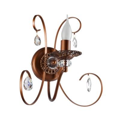Светильник бра Colosseo 81805/1W OVIDIOКлассика<br><br><br>Тип товара: бра<br>Тип цоколя: E14<br>Количество ламп: 1<br>MAX мощность ламп, Вт: 60<br>Диаметр, мм мм: 310<br>Высота, мм: 310<br>Цвет арматуры: коричневый