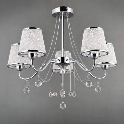 Светильник Colosseo 81905/5C OptimaПотолочные<br><br><br>S освещ. до, м2: 10<br>Тип лампы: Накаливания / энергосбережения / светодиодная<br>Тип цоколя: E14<br>Количество ламп: 5<br>MAX мощность ламп, Вт: 40<br>Диаметр, мм мм: 610<br>Высота, мм: 560<br>Цвет арматуры: хром серебристый