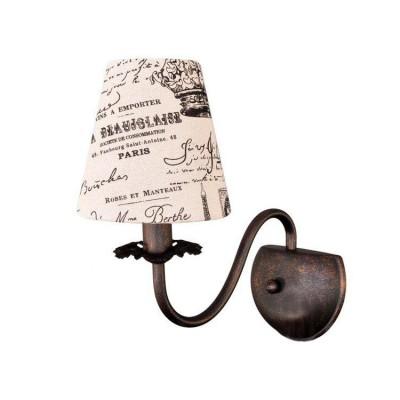 Светильник настенный бра Colosseo 81906/1W CAMERONЛофт<br><br><br>Тип лампы: Накаливания / энергосбережения / светодиодная<br>Тип цоколя: E14<br>Цвет арматуры: коричневый<br>Количество ламп: 1