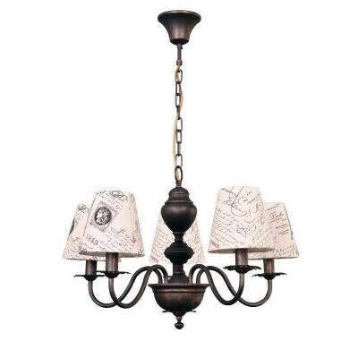 Люстра Colosseo 81906/5 CAMERONПодвесные<br><br><br>S освещ. до, м2: 10<br>Тип лампы: Накаливания / энергосбережения / светодиодная<br>Тип цоколя: E14<br>Цвет арматуры: коричневый<br>Количество ламп: 5<br>Диаметр, мм мм: 650<br>Высота, мм: 400 - 700<br>MAX мощность ламп, Вт: 40