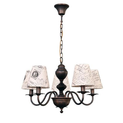 Люстра Colosseo 81906/5 CAMERONОжидается<br><br><br>Тип цоколя: E14<br>Количество ламп: 5<br>Цвет арматуры: коричневый
