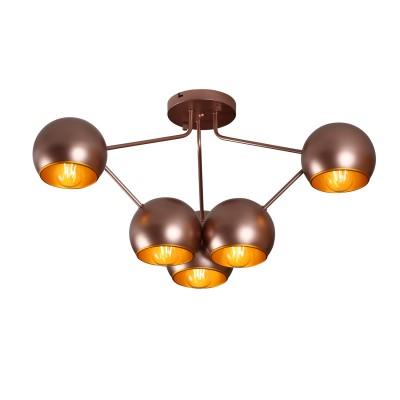Светильник Colosseo 82014/6C QUINTINAлюстры хай тек потолочные<br><br><br>Тип лампы: Накаливания / энергосбережения / светодиодная<br>Тип цоколя: E27<br>Цвет арматуры: медный<br>Количество ламп: 6<br>Поверхность арматуры: блестящая<br>Оттенок (цвет): медный<br>MAX мощность ламп, Вт: 60<br>Общая мощность, Вт: 360