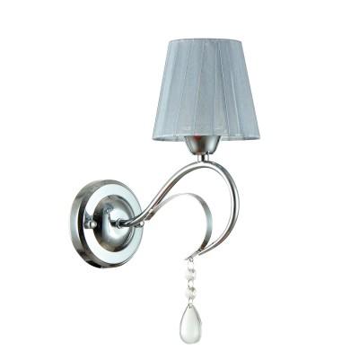 Светильник бра Colosseo 82123/1W FEDELINAМодерн<br><br><br>Тип товара: бра<br>Тип лампы: Накаливания / энергосбережения / светодиодная<br>Тип цоколя: E14<br>Количество ламп: 1<br>MAX мощность ламп, Вт: 60<br>Диаметр, мм мм: 225<br>Высота, мм: 340<br>Цвет арматуры: серебристый