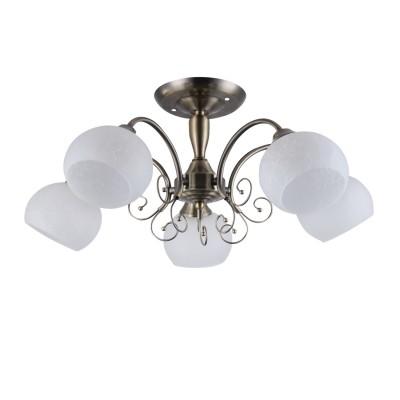Светильник Colosseo 82125/5C OptimaПотолочные<br><br><br>Тип лампы: Накаливания / энергосбережения / светодиодная<br>Тип цоколя: E27<br>Количество ламп: 5<br>MAX мощность ламп, Вт: 60<br>Диаметр, мм мм: 550<br>Высота, мм: 250<br>Цвет арматуры: бронзовый