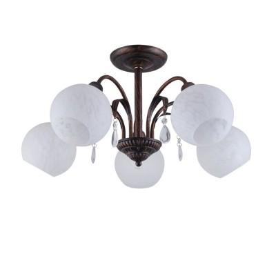 Светильник Colosseo 82129/5C OptimaПотолочные<br><br><br>S освещ. до, м2: 15<br>Крепление: Планка<br>Тип лампы: Накаливания / энергосбережения / светодиодная<br>Тип цоколя: E27<br>Количество ламп: 5<br>MAX мощность ламп, Вт: 60<br>Диаметр, мм мм: 600<br>Высота, мм: 295<br>Цвет арматуры: коричневый