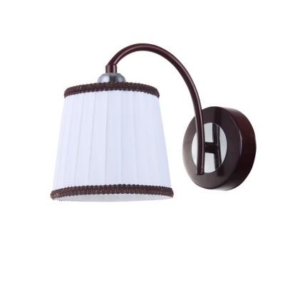 Светильник Colosseo 82130/1W OptimaКлассические<br><br><br>Тип лампы: Накаливания / энергосбережения / светодиодная<br>Тип цоколя: E27<br>Количество ламп: 1<br>Ширина, мм: 150<br>MAX мощность ламп, Вт: 60<br>Длина, мм: 220<br>Высота, мм: 170<br>Цвет арматуры: коричневый / хром серебристый