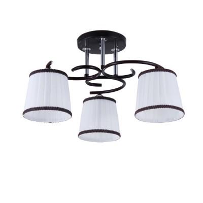Светильник Colosseo 82130/3C OptimaПотолочные<br><br><br>Тип лампы: Накаливания / энергосбережения / светодиодная<br>Тип цоколя: E27<br>Количество ламп: 3<br>MAX мощность ламп, Вт: 60<br>Диаметр, мм мм: 470<br>Высота, мм: 270<br>Цвет арматуры: коричневый / хром серебристый