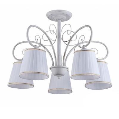 COLOSSEO optima 82132/5C белый E27 5*60WПотолочные<br><br><br>S освещ. до, м2: 15<br>Тип лампы: Накаливания / энергосбережения / светодиодная<br>Тип цоколя: E27<br>Количество ламп: 5<br>MAX мощность ламп, Вт: 60<br>Диаметр, мм мм: 570<br>Высота, мм: 410
