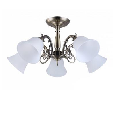 COLOSSEO optima 82134/5C бронза E27 5*60WПотолочные<br><br><br>S освещ. до, м2: 15<br>Тип лампы: Накаливания / энергосбережения / светодиодная<br>Тип цоколя: E27<br>Количество ламп: 5<br>MAX мощность ламп, Вт: 60<br>Диаметр, мм мм: 620<br>Высота, мм: 310<br>Цвет арматуры: бронзовый