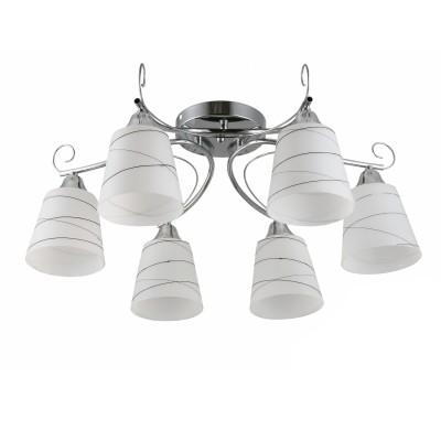 COLOSSEO optima 82135/6C хром E27 6*60WПотолочные<br><br><br>S освещ. до, м2: 18<br>Тип лампы: Накаливания / энергосбережения / светодиодная<br>Тип цоколя: E27<br>Количество ламп: 6<br>MAX мощность ламп, Вт: 60<br>Диаметр, мм мм: 600<br>Высота, мм: 255<br>Цвет арматуры: серебристый хром