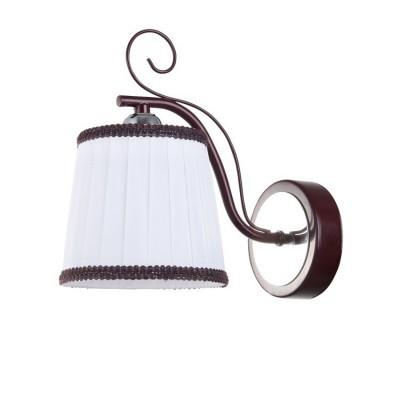 Светильник Colosseo 82136/1W OptimaМодерн<br><br><br>Тип лампы: Накаливания / энергосбережения / светодиодная<br>Тип цоколя: E27<br>Количество ламп: 1<br>Ширина, мм: 130<br>MAX мощность ламп, Вт: 60<br>Длина, мм: 215<br>Высота, мм: 220<br>Цвет арматуры: коричневый / хром серебристый