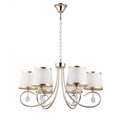 Светильник Colosseo 82138/6 OptimaПодвесные<br><br><br>Установка на натяжной потолок: Да<br>S освещ. до, м2: 18<br>Крепление: крюк<br>Тип лампы: Накаливания / энергосбережения / светодиодная<br>Тип цоколя: E27<br>Количество ламп: 6<br>MAX мощность ламп, Вт: 60<br>Диаметр, мм мм: 660<br>Цвет арматуры: золотой