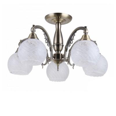 COLOSSEO optima 82142/5C бронза E27 5*60WПотолочные<br><br><br>S освещ. до, м2: 15<br>Тип лампы: Накаливания / энергосбережения / светодиодная<br>Тип цоколя: E27<br>Количество ламп: 5<br>MAX мощность ламп, Вт: 60<br>Диаметр, мм мм: 560<br>Высота, мм: 300