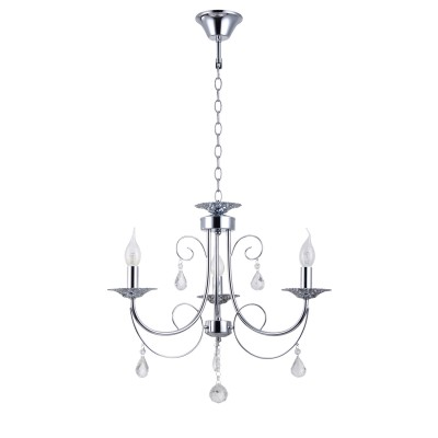 Люстра Colosseo 82143/3 Optimaлюстры подвесные классические<br><br><br>Установка на натяжной потолок: Да<br>S освещ. до, м2: 9<br>Крепление: Крюк<br>Тип лампы: Накаливания / энергосбережения / светодиодная<br>Тип цоколя: E27<br>Цвет арматуры: серебристый хром<br>Количество ламп: 3<br>Диаметр, мм мм: 530<br>Высота полная, мм: 470<br>Высота, мм: 470<br>MAX мощность ламп, Вт: 60
