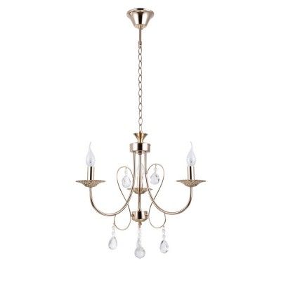 Светильник Colosseo 82144/3 OptimaПодвесные<br><br><br>S освещ. до, м2: 9<br>Тип лампы: Накаливания / энергосбережения / светодиодная<br>Тип цоколя: E27<br>Количество ламп: 3<br>MAX мощность ламп, Вт: 60<br>Диаметр, мм мм: 530<br>Высота, мм: 450<br>Цвет арматуры: золотой