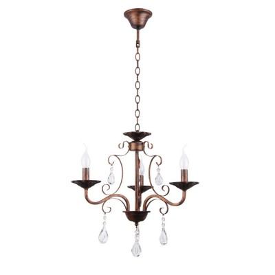 Светильник Colosseo 82145/3 OptimaПодвесные<br><br><br>Тип лампы: Накаливания / энергосбережения / светодиодная<br>Тип цоколя: E27<br>Количество ламп: 3<br>MAX мощность ламп, Вт: 60<br>Диаметр, мм мм: 530<br>Высота, мм: 460<br>Цвет арматуры: коричневый