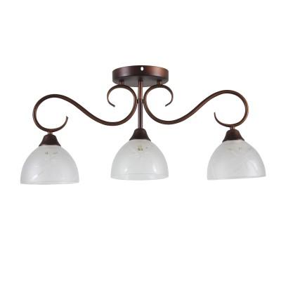 Светильник Colosseo 82147/3Cсовременные потолочные люстры модерн<br><br><br>Тип лампы: Накаливания / энергосбережения / светодиодная<br>Тип цоколя: E27<br>Цвет арматуры: коричневый<br>Количество ламп: 3<br>Ширина, мм: 150<br>Высота полная, мм: 300<br>Длина, мм: 620<br>Высота, мм: 300<br>Поверхность арматуры: матовая<br>Оттенок (цвет): коричневый<br>MAX мощность ламп, Вт: 60<br>Общая мощность, Вт: 180