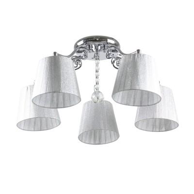 Светильник Colosseo 82150/5Cсовременные потолочные люстры модерн<br><br><br>Тип лампы: Накаливания / энергосбережения / светодиодная<br>Тип цоколя: E27<br>Цвет арматуры: серебристый хром<br>Количество ламп: 5<br>Ширина, мм: 550<br>Высота полная, мм: 260<br>Длина, мм: 550<br>Высота, мм: 260<br>Поверхность арматуры: глянцевая<br>Оттенок (цвет): серебристый<br>MAX мощность ламп, Вт: 60<br>Общая мощность, Вт: 300