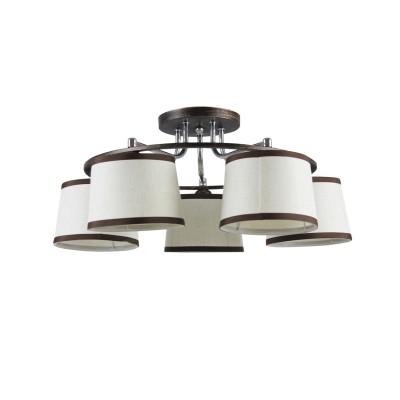 Люстра Colosseo 82151/5C optimaПотолочные<br><br><br>S освещ. до, м2: 15<br>Тип лампы: накаливания / энергосбережения / LED-светодиодная<br>Тип цоколя: E27<br>Цвет арматуры: коричневый<br>Количество ламп: 5<br>Диаметр, мм мм: 570<br>Высота, мм: 285<br>MAX мощность ламп, Вт: 60