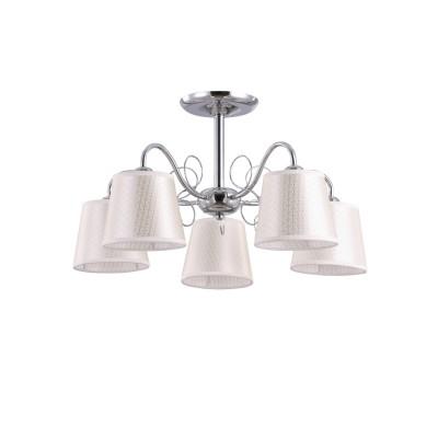 Люстра Colosseo 82152/5C optimaПотолочные<br><br><br>S освещ. до, м2: 15<br>Тип лампы: накаливания / энергосбережения / LED-светодиодная<br>Тип цоколя: E27<br>Цвет арматуры: серебристый<br>Количество ламп: 5<br>Диаметр, мм мм: 580<br>Высота, мм: 330<br>MAX мощность ламп, Вт: 60