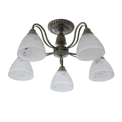 Светильник Colosseo 82162/5Cлюстры потолочные классические<br><br><br>Тип лампы: Накаливания / энергосбережения / светодиодная<br>Тип цоколя: E27<br>Цвет арматуры: бронзовый<br>Количество ламп: 5<br>Диаметр, мм мм: 580<br>Высота полная, мм: 245<br>Высота, мм: 245<br>Поверхность арматуры: матовая<br>Оттенок (цвет): бронза<br>MAX мощность ламп, Вт: 60<br>Общая мощность, Вт: 300