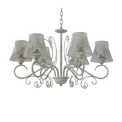 Светильник Colosseo 82174/6современные подвесные люстры модерн<br><br><br>Тип лампы: Накаливания / энергосбережения / светодиодная<br>Тип цоколя: E27<br>Цвет арматуры: Светлые тона<br>Количество ламп: 6<br>Диаметр, мм мм: 630<br>Высота полная, мм: 830<br>Высота, мм: 830<br>Поверхность арматуры: матовая<br>Оттенок (цвет): белый<br>MAX мощность ламп, Вт: 60