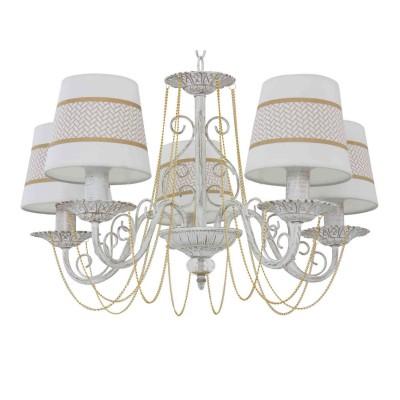 Светильник Colosseo 82178/5люстры подвесные классические<br><br><br>Тип лампы: Накаливания / энергосбережения / светодиодная<br>Тип цоколя: E14<br>Цвет арматуры: Светлые тона<br>Количество ламп: 5<br>Диаметр, мм мм: 570<br>Высота полная, мм: 790<br>Высота, мм: 790<br>Поверхность арматуры: матовая<br>Оттенок (цвет): белый<br>MAX мощность ламп, Вт: 60<br>Общая мощность, Вт: 300