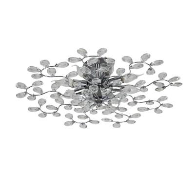 Светильник Colosseo 82181/8Cлюстры флористика потолочные<br><br><br>Тип лампы: Накаливания / энергосбережения / светодиодная<br>Тип цоколя: E14<br>Цвет арматуры: серебристый хром<br>Количество ламп: 8<br>Диаметр, мм мм: 650<br>Высота полная, мм: 180<br>Высота, мм: 180<br>Поверхность арматуры: глянцевая<br>Оттенок (цвет): серебристый<br>MAX мощность ламп, Вт: 60